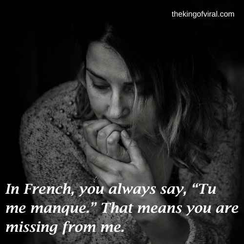 missing you in french