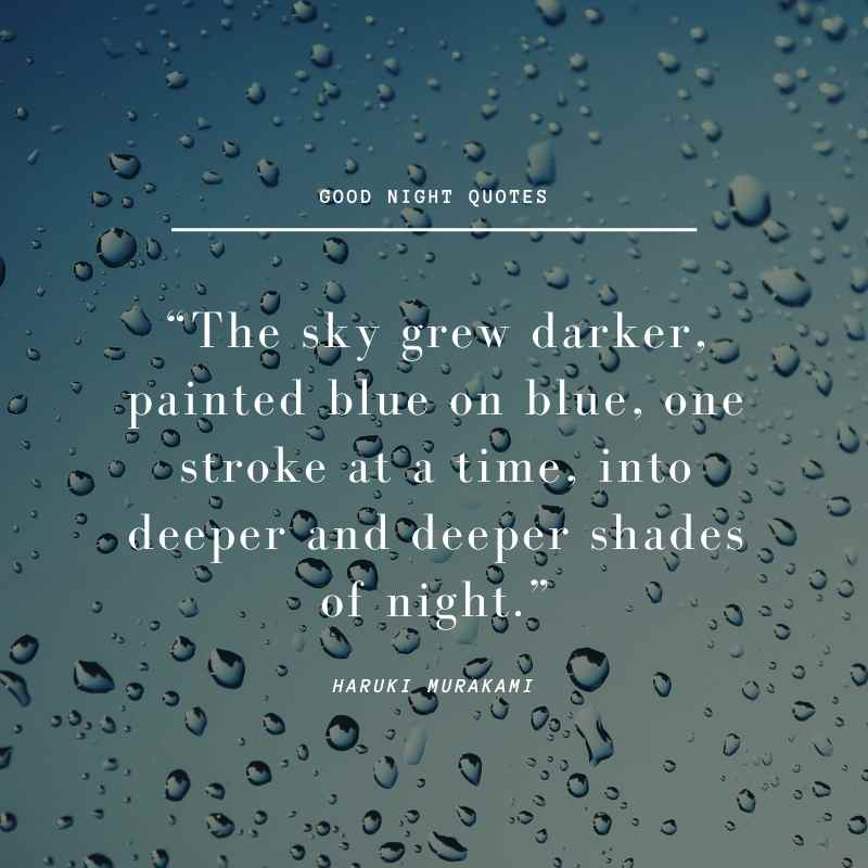Rain droplets on the glass Good Night Quotes